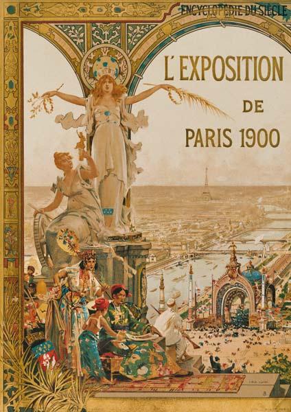 Paris world fair 1900 poster artist artist as art for Expo photo paris