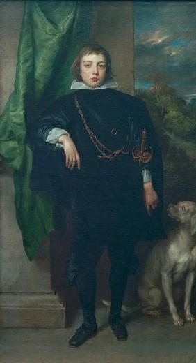 Prince Rupert of the Palatinate with a dog