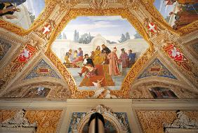Perugino, Raphael.../ Fresco by Bruschi