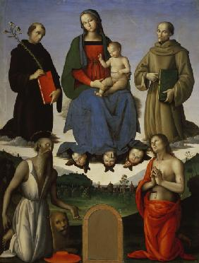 P.Perugino / Mary with Child & Saints