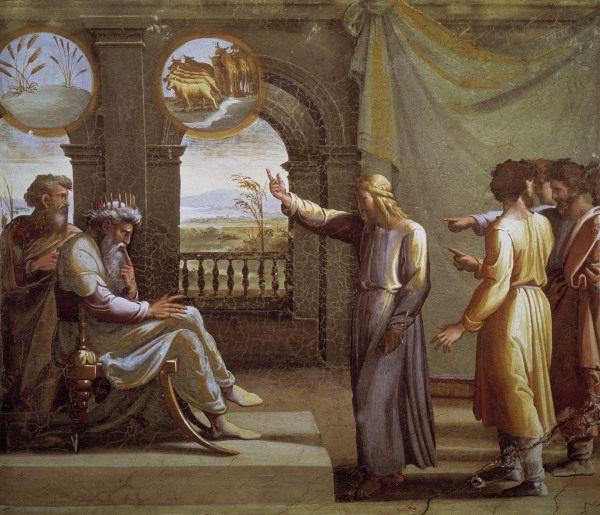 Image: (Raphael) Raffaello Santi - Raphael/Joseph a.Pharaoh s dreams/c.1515