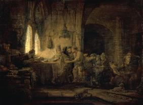 Rembrandt / Workers in the Yineyard