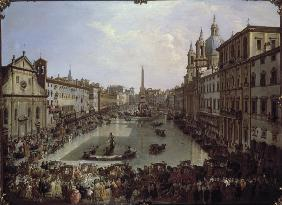 Rome / Piazza Navona under Water / 1756