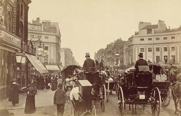 Regent Circus London C 1880 Sepia Pho As Art Print Or