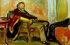 Munch, Self portrait influenza