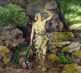 Siegfried having defeated the Dragon