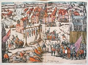 Spanish Soldiers killing Protestants in Haarlem, c.1567