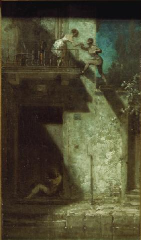 Spitzweg / Rendezvous at Night / c. 1875