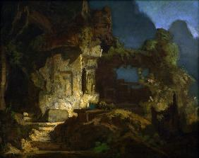 Spitzweg / Rock Chapel / Painting / 1865