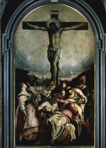 an analysis of the painting the crucifixion of christ by tintoretto