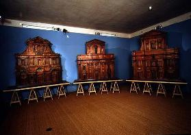 Three architectural models of church facades designed by Michelangelo di Buonarroti (1475-1564) 1507
