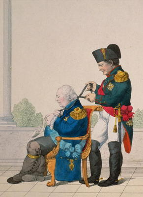 Untitled Cartoon of Napoleon and Louis X - as art print or ...
