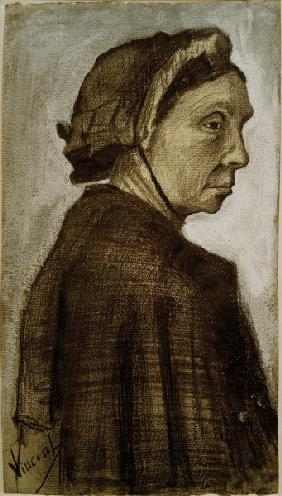 V.van Gogh, Head of a Woman /Draw./ 1882