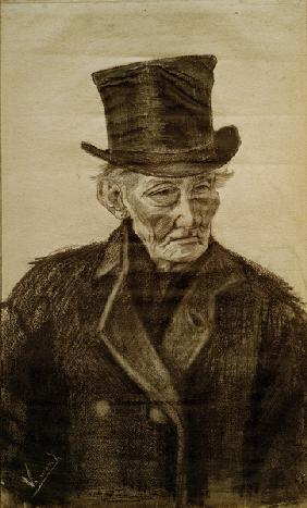 V.van Gogh, Old Man w.Top Hat / Draw.