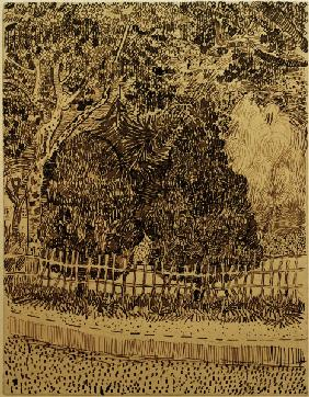V.van Gogh, Park with Fence /Draw./1888