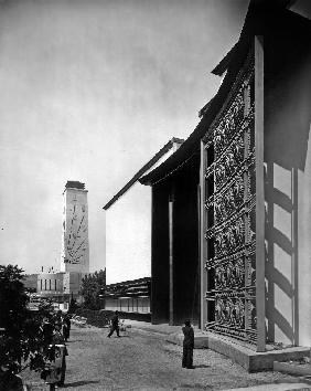 World Fair, Paris: the pavilion of metal : wrought iron door by Raymond Subes