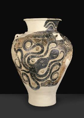 Pithos with octopus design, from Knossos, Crete, late Minoan period II, c.1450-1400 BC (painted eart