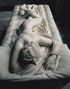The Sleeping Hermaphrodite, copy after an original of the 2nd century BC, the mattress is an additio