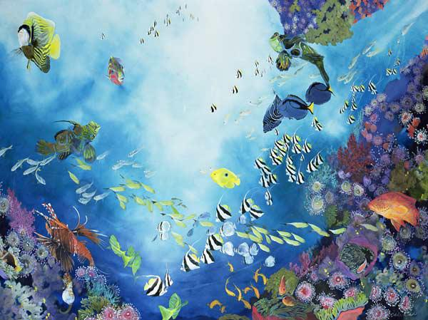 Underwater World III, 2002 (acrylic on twill)