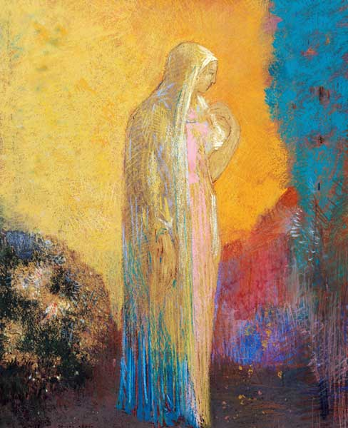 Standing Veiled Woman Odilon Redon As Art Print Or Hand