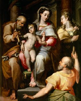 Holy Family with St. Peter and St. Mary Magdalene