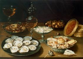 Beert I., Osias : Still life with oysters, s...