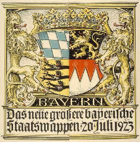 The new larger Bavarian coat of arms, July 20, 1923