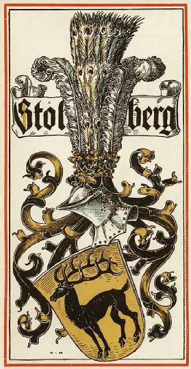 The family coat of arms of the German royal houses: Stolberg
