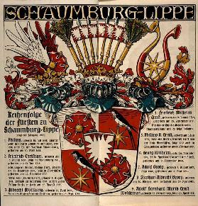 Schaumburg-Lippe. / Row of the princes of Schaumburg-Lippe