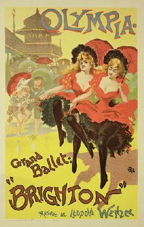 Reproduction of a poster advertising the ballet 'Brighton', Theatre Olympia