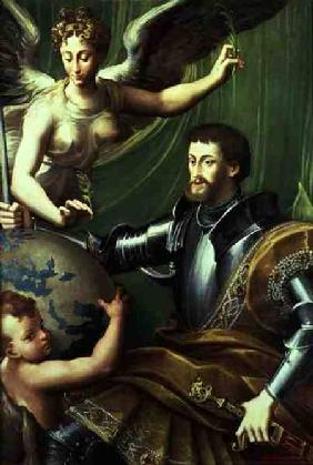 Emperor Charles V (1500-58) Receiving the World