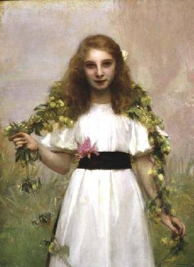Portrait of a Young Girl with Flowers