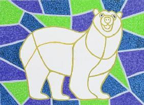 Polar Bear on Stained Glass