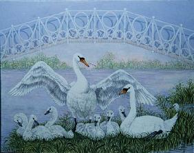 The Family Swan (acrylic)