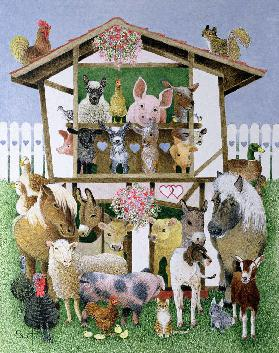 Animal Playhouse (oil on canvas)