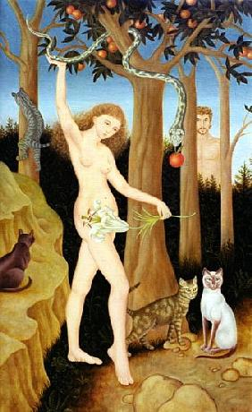 Adam & Eve, 1990 (oil on canvas)