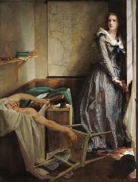 Charlotte Corday after the murder of Marat