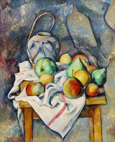 Le Vase Paille Paul Czanne As Art Print Or Hand Painted Oil