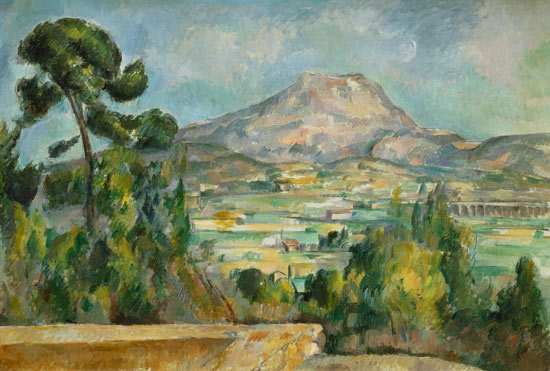 Montagne Sainte-Victoire - oil painting of Paul Cézanne
