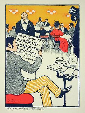 Reproduction of a poster advertising 'Wilhelm Soborg', Copenhagen