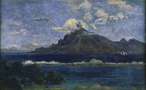 The Canoe A Tahitian Family by Paul Gauguin   Oil Painting