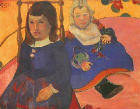 Portrait two children (Paul and Jean Schuffenecker)