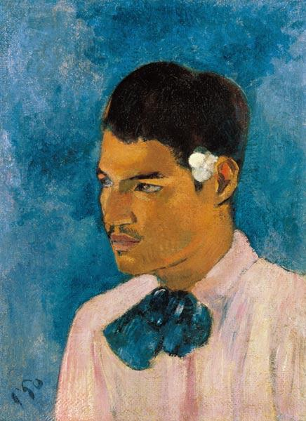 The young man with the flower