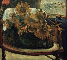 Sunflowers in an armchair