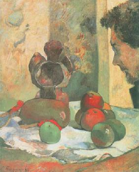 Still life with the profile of Charles Laval