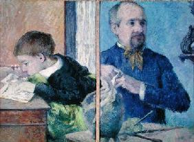 Portrait of Jean Paul Aube (1837-1916) and his son