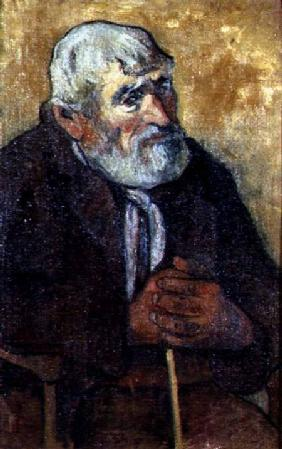 Portrait of an Old Man with a Stick