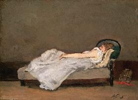 Fair Haired Woman on a Sofa