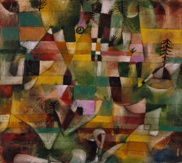 Landscape With A Yellow Church Steeple Paul Klee As Art