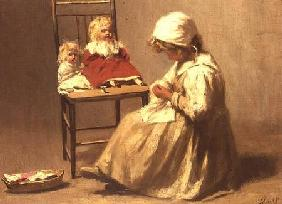 A Girl with her Dolls